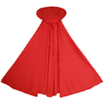 Child Red Cape with Collar