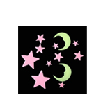 Glow In The Dark Moon & Stars (Style B)