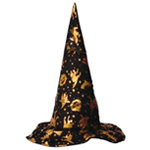 Deluxe Gold & Black Witch Hat