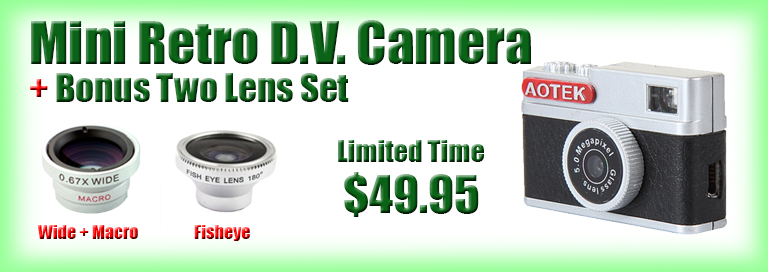 Mini Retro DV Camera with Two Lenses