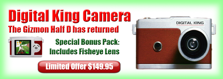 Digital King Camera with BONUS Fisheye Lens