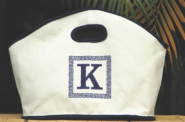 GG Canvas - Medium - Greek Key