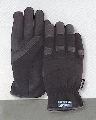 "2136-BK  HAWK ""ARMOR SKIN"" SYNTHETIC LEATHER MECHANICS GLOVES W/SLIP ON STYLE WRIST"