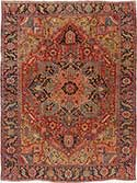Rare Antique Heriz Rug