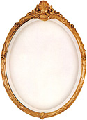 Oval French Mirror