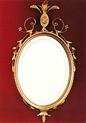 Gilt Oval Adam Design Mirror