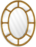 Oval Mirror with Double Border
