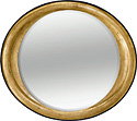 Wide Oval Mirror