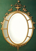 Oval Window Pane Mirror