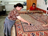 Making Oriental Rugs: Shearing the Pile