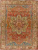 Powerful Antique Serapi Rug