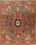 Important Antique Serapi Rug