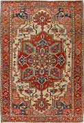 Brilliant Antique Serapi Oriental Rug
