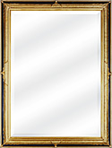 Traditional Black and Gold Mirror