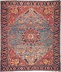 Antique Serapi rug