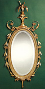 Queen Anne Oval Mirror