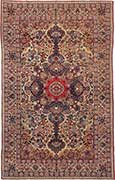 Antique Lavar Kerman Oriental Carpet