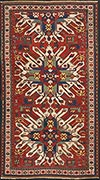 Antique Eagle Kazak Rug