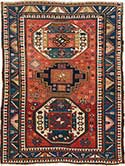 Magnificent Antique Kazak Oriental Rug