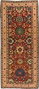 Antique Kuba Blossom Runner