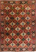 Antique Bakhtiari Oriental Rug