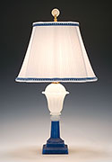Antique Sandwich Glass Lamp