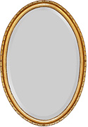 Formal Oval Mirror with Bellflower Frame