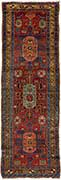Antique Heriz Oriential Runner Rug
