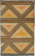 Hand Hooked Rug - Triangles
