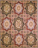 Hand Hooked Rug - Flower Painted Ceiling