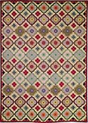 Hand Hooked Rug - Stained Glass Window