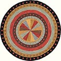 Hand Hooked Rug - Multi-Color Dart Board