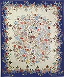 Hand Hooked Rug - Flowered Walk I