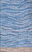 Hand Hooked Rug  - Ocean and Beach