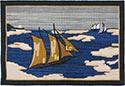 Hand Hooked Grenfell Rug - Sailing in Icy Waters