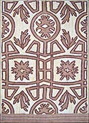 Hand Hooked Rug  - Spanish Tile