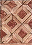 Hand Hooked Rug  - Parquet Tile