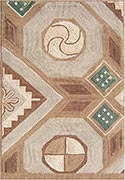 Hand Hooked Rug  - Inlaid Design