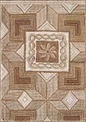 Hand Hooked Rug  - Marquetry Tiles
