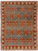 Red Green Anatolian Oriental Rug