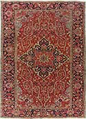 Powerful Antique Heriz Rug