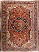 Manificent Antique Heriz Rug