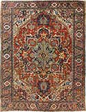 Antique Heriz Oriental Carpet