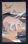 Hand Hooked Grenfell Rug  - Arctic Spring