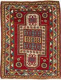 Antique Fachralo Kazak Prayer Rug
