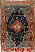 Important Antique Bakhshaish Rug