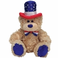 TY Beanie Babies Independence Bear (Blue Feet Version)