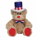 TY Beanie Babies Independence Bear (Red Feet Version)