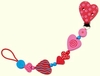 Haba Pacifier Chain<br>Hearts