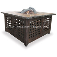 "Square Firepit Table with Slate Mantel (41.25"") (LP)"